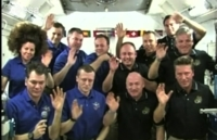 ISS crew makes inflight call to Pope Benedict XVI