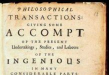 Philosophical Transactions Volume 1 frontispiece