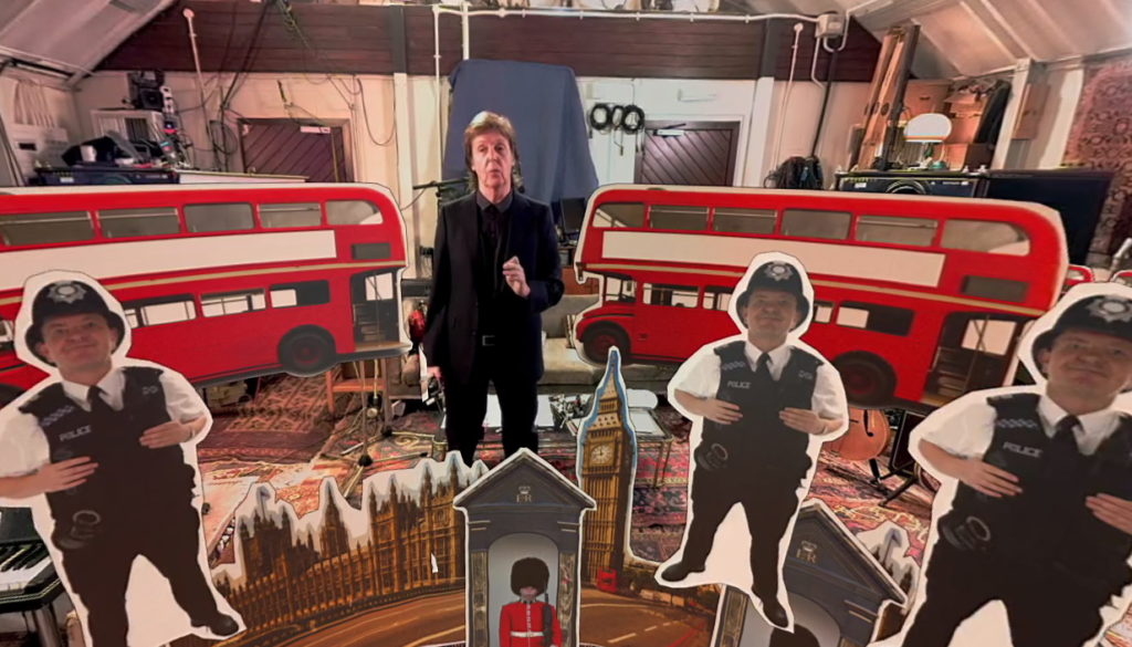 A snap from one of the 360° videos which give an insight on Sir Paul's best selling hits
