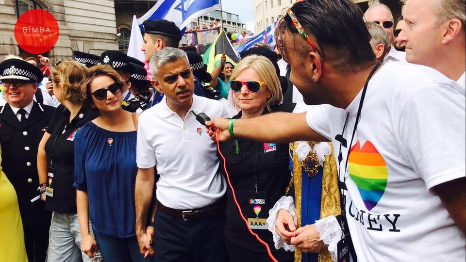 our correspondent Kiran Rai meet Sadiq Khan Pride celebrations in London