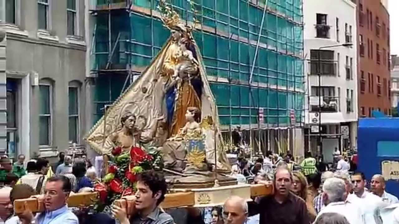 ST PETER'S ITALIAN CHURCH - PROCESSION IN HONOUR OF OUR LADY